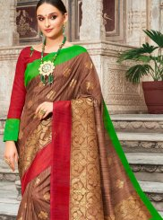Art Silk Multi Colour Digital Print Traditional Designer Saree