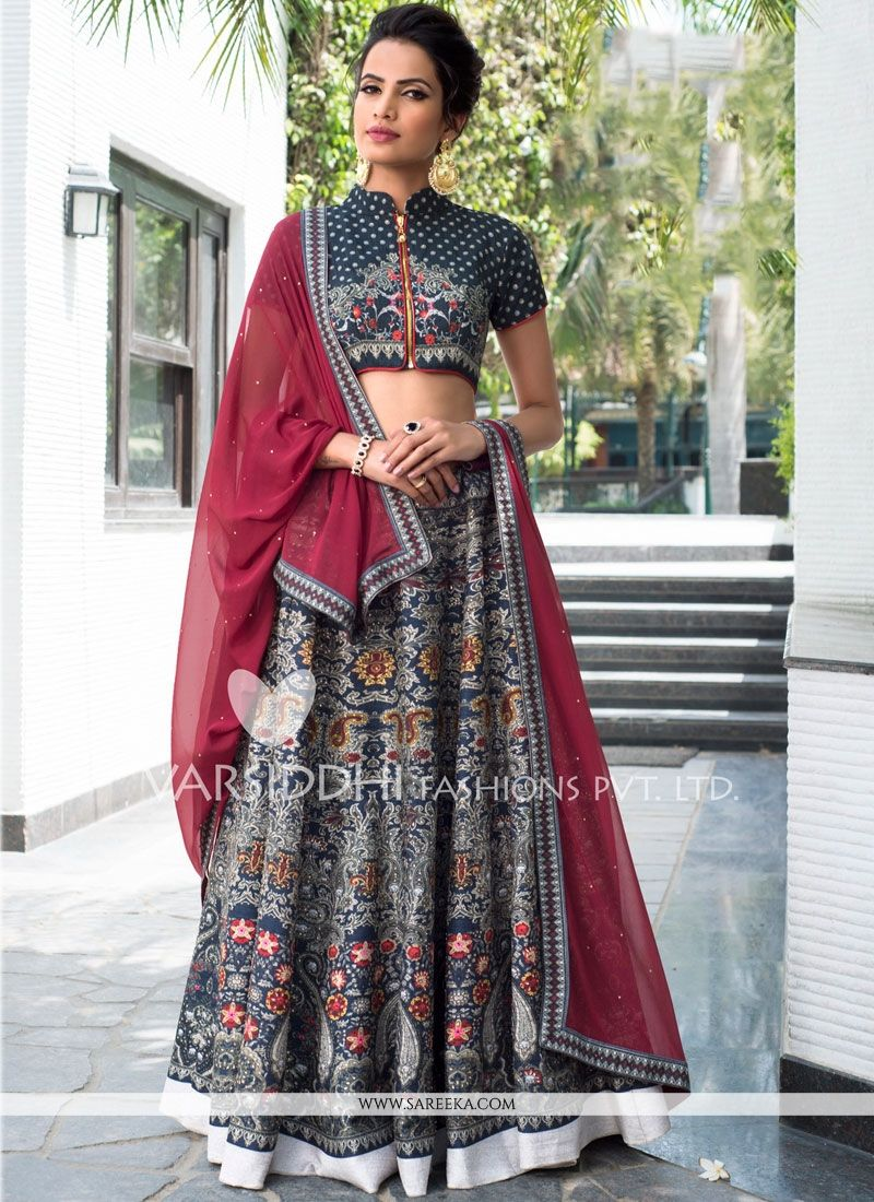 Art Silk Multi Colour Lehenga Choli
