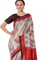 Art Silk Multi Colour Print Casual Saree