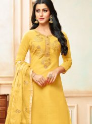 Art Silk Party Designer Palazzo Suit