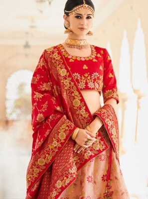 Art Silk Patch Border Lehenga Choli