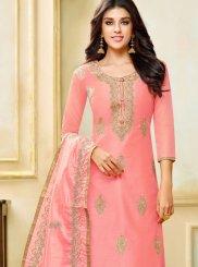 Art Silk Pink Designer Palazzo Suit