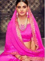 Art Silk Pink Printed Saree