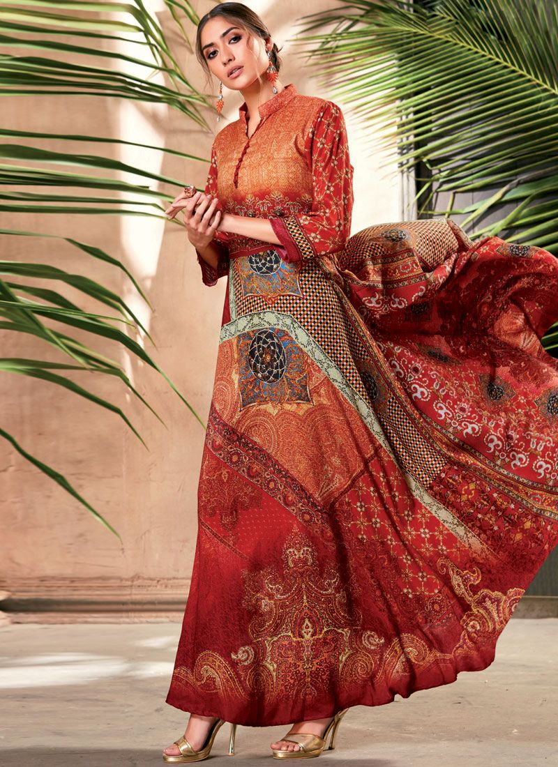7637d3b4b3d Buy Art Silk Print Party Wear Kurti Online -
