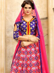 Art Silk Print Work Lehenga Choli