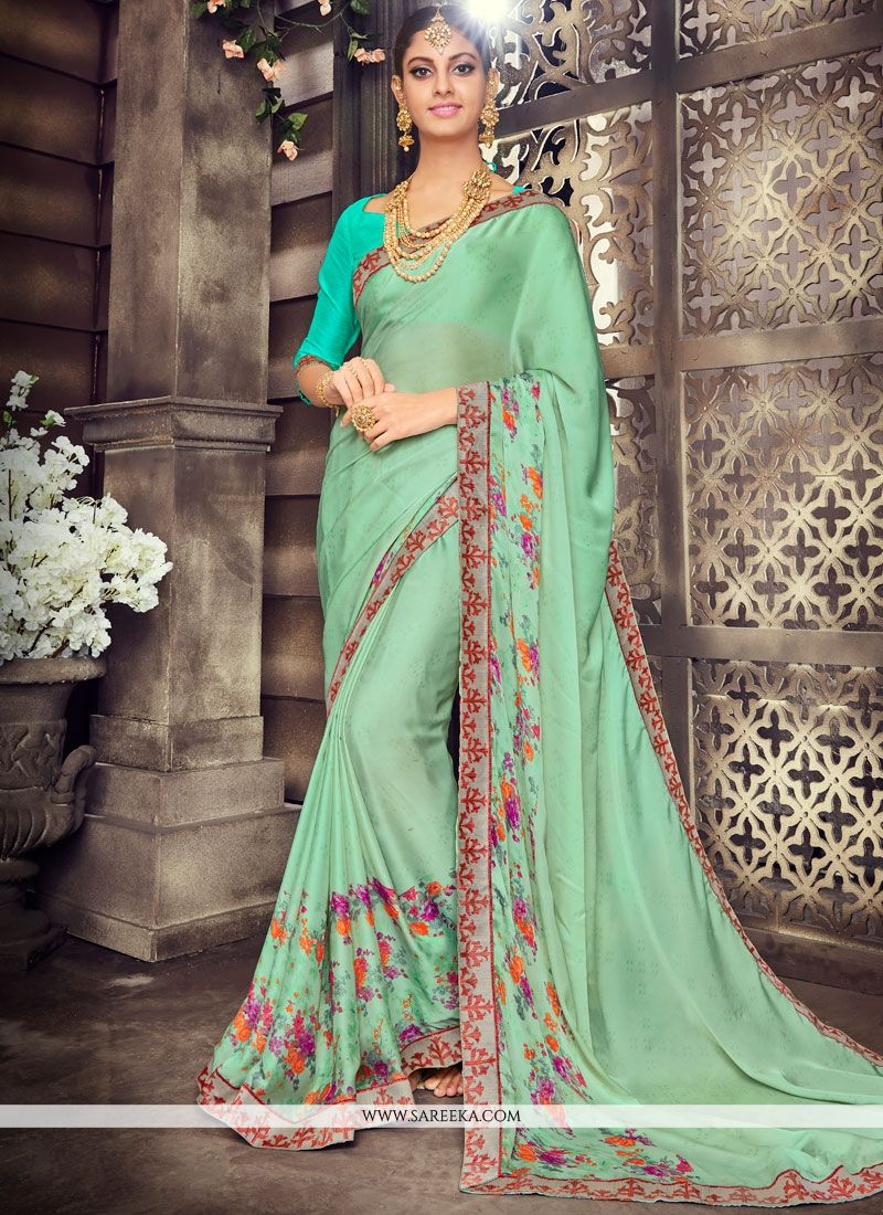 Art Silk Print Work Printed Saree