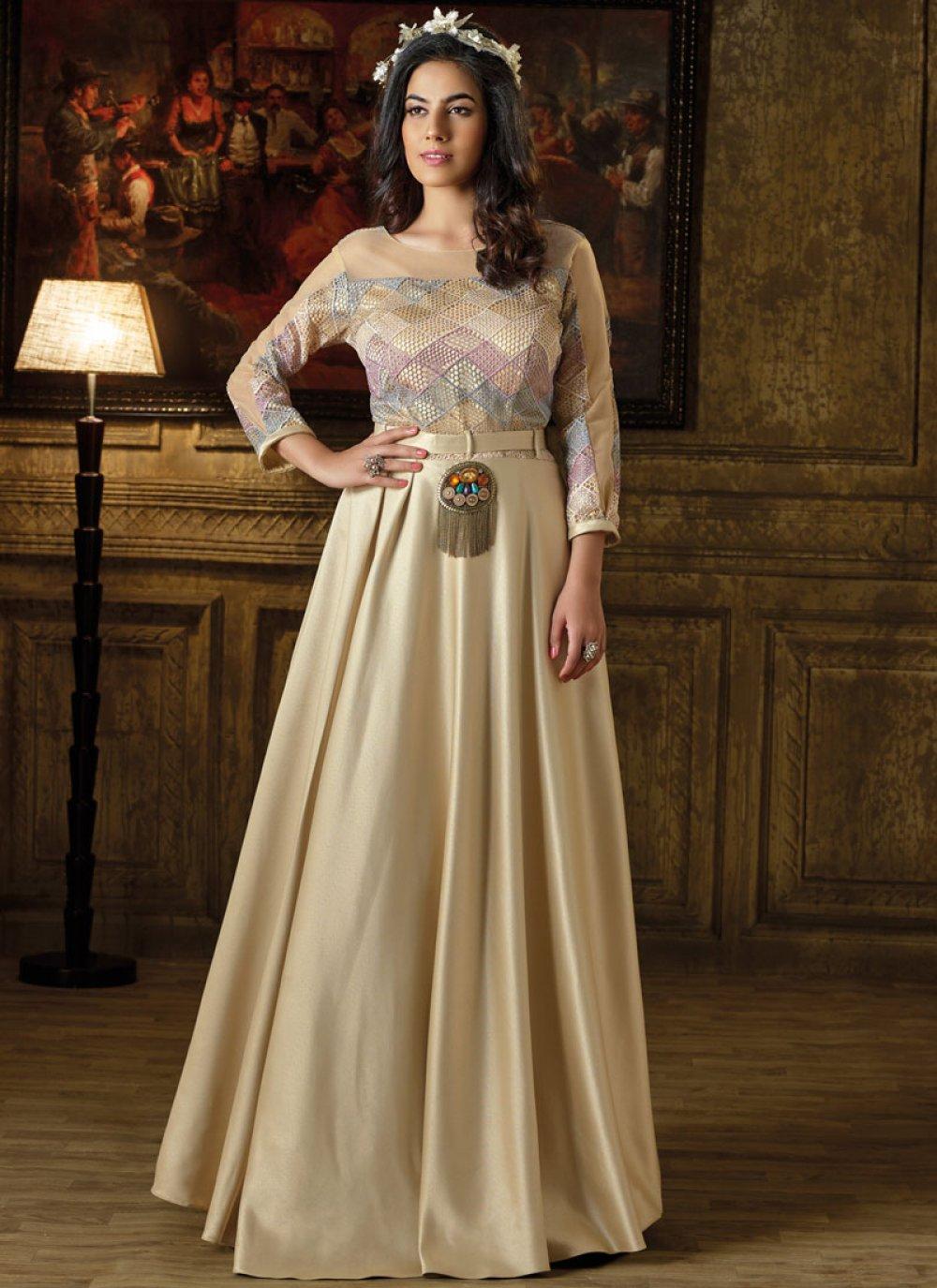 Art Silk Readymade Gown