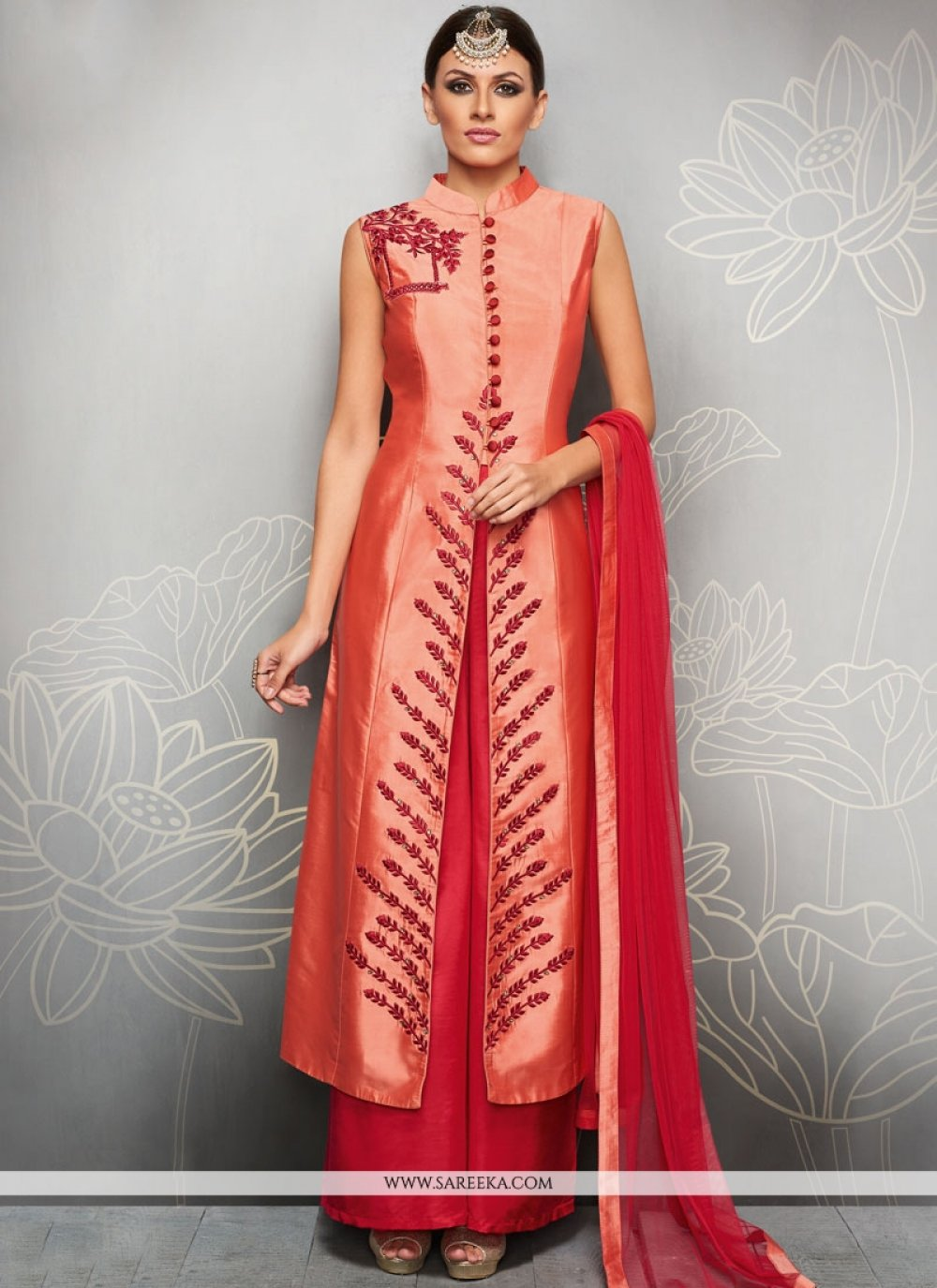 Art Silk Readymade Suit