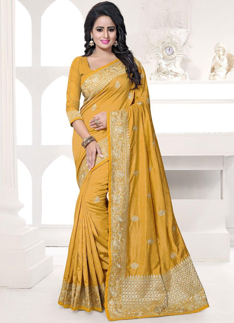 Art Silk Resham Work Designer Traditional Saree