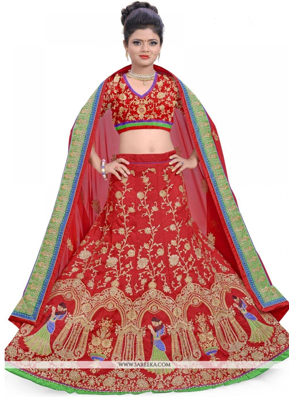 Art Silk Resham Work Lehenga Choli