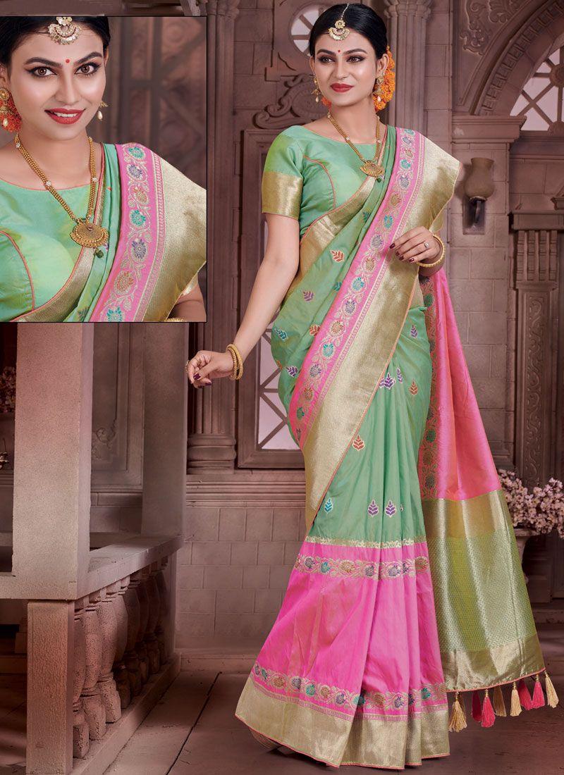 Art Silk Resham Work Traditional Designer Saree