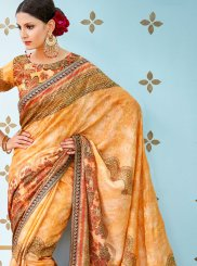 Art Silk Traditional  Saree in Multi Colour