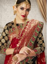 Art Silk Weaving Designer Half N Half Saree
