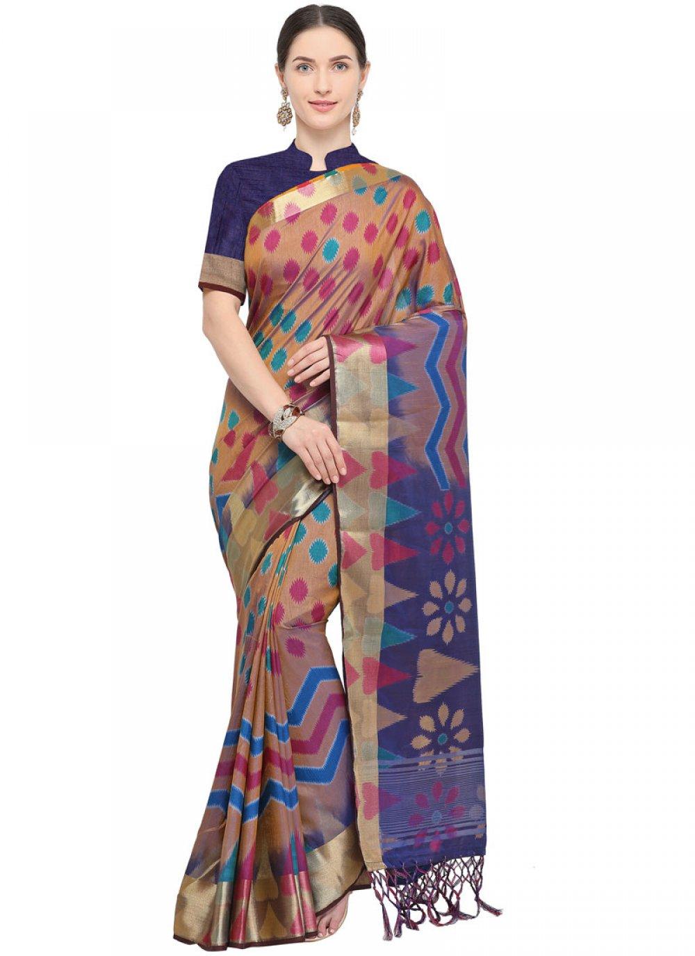 Art Silk Weaving Traditional Designer Saree in Blue