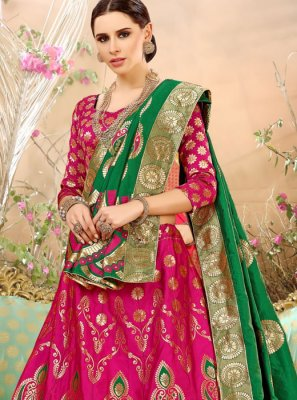 Art Silk Weaving Work Lehenga Choli