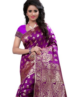 Art Silk Weaving Work Traditional Designer Saree