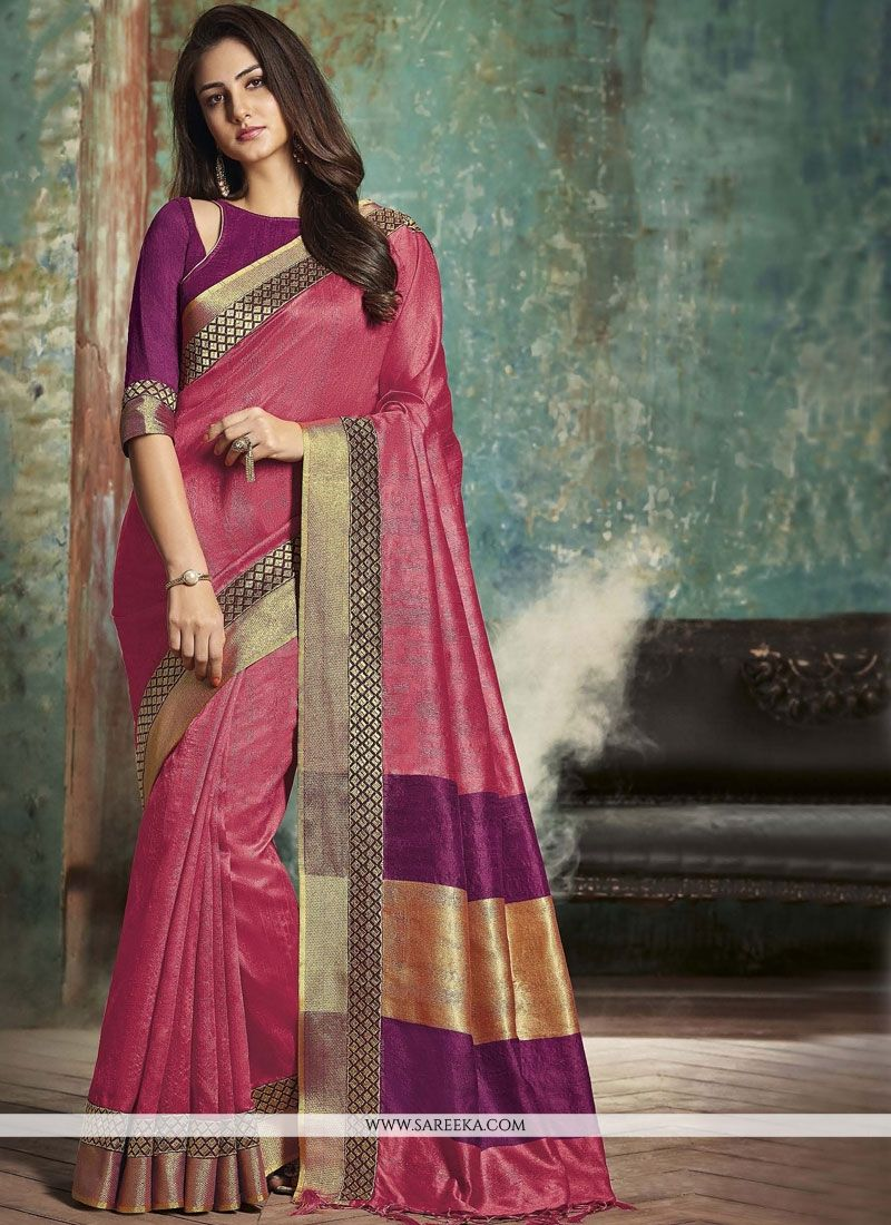 Art Silk woven Work Traditional  Saree