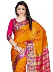Art Silk Yellow Classic Designer Saree