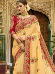 Art Silk Yellow Designer Traditional Saree