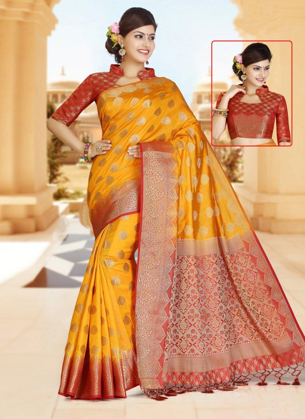 Art Silk Zari Work Classic Designer Saree