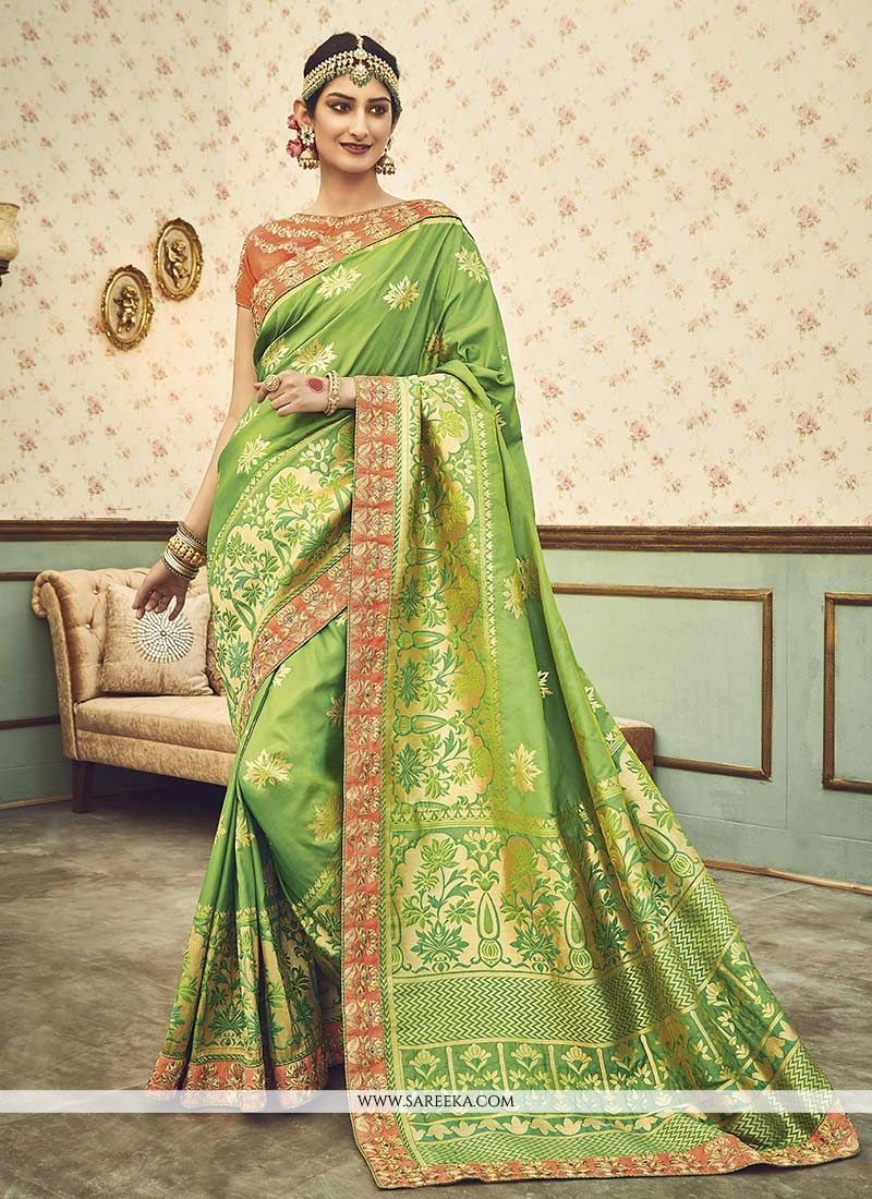 Art Silk Zari Work Designer Traditional Saree