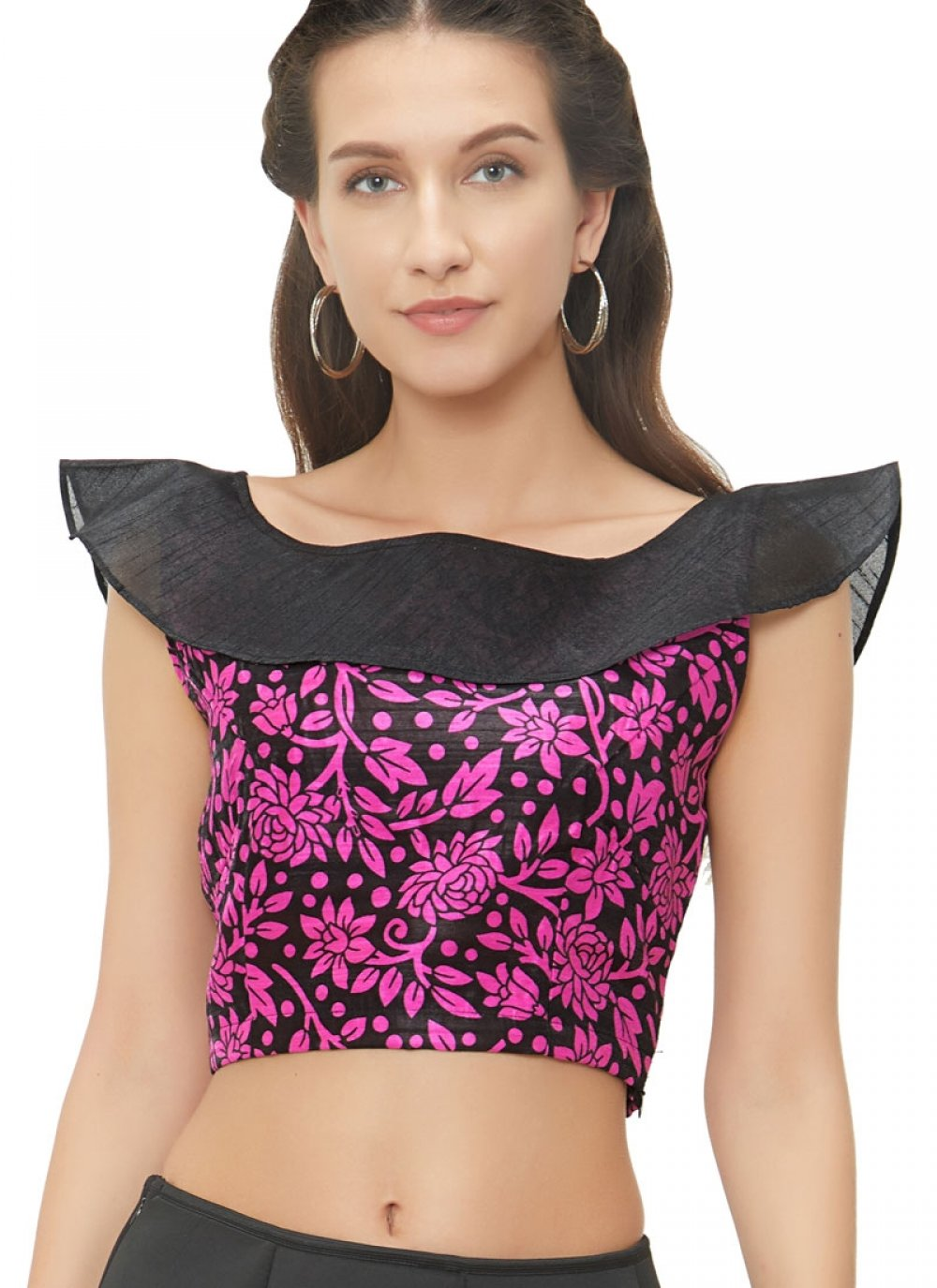 Attractive Pink Color  Readymade Blouse
