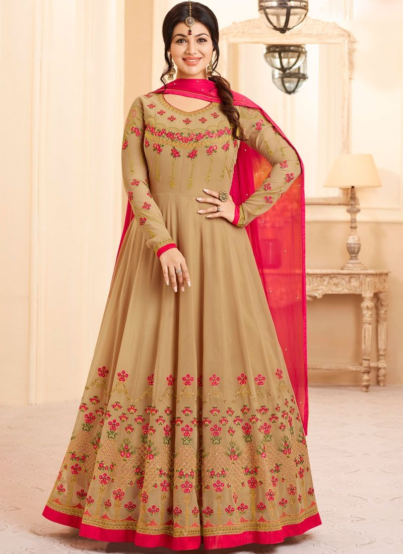 Awesome Beige Anarkali Suit