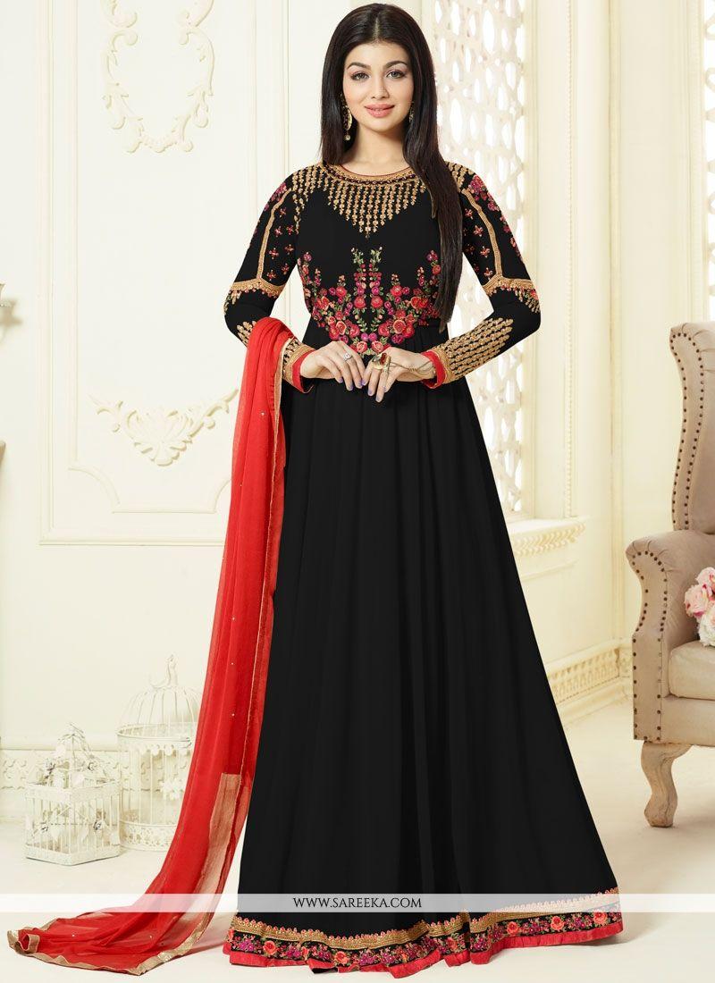 Ayesha Takia Black Floor Length Anarkali Suit