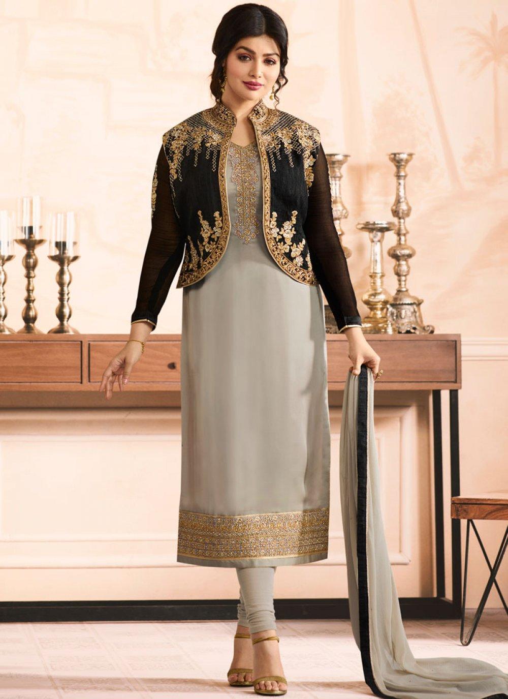 Ayesha Takia Embroidered Work Jacket Style Suit
