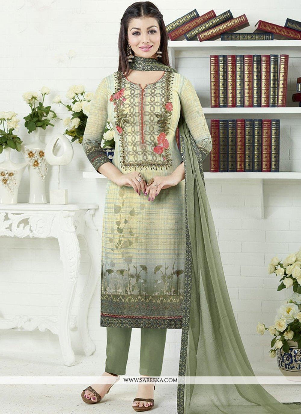 Ayesha Takia Faux Georgette Print Work Multi Colour Churidar Designer Suit