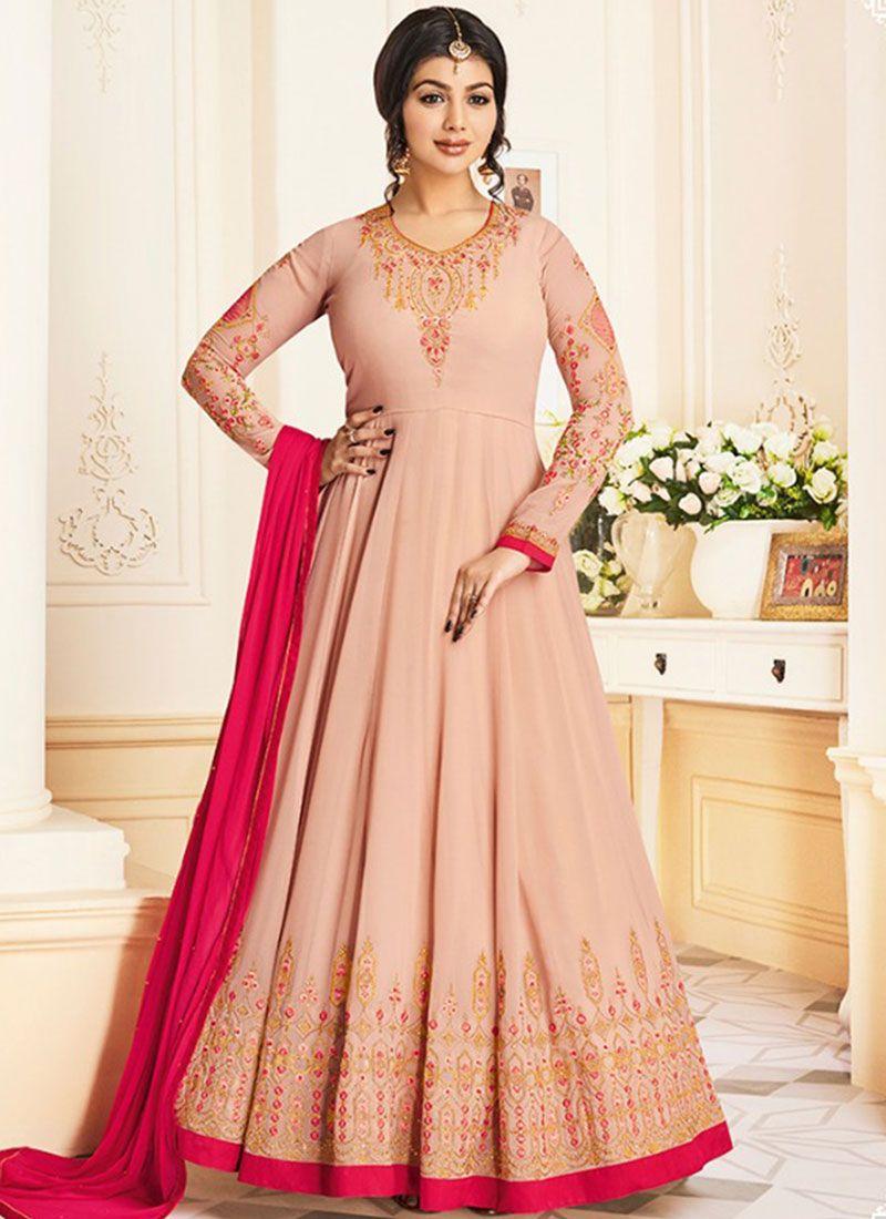 Ayesha Takia Faux Georgette Resham Work Floor Length Anarkali Suit