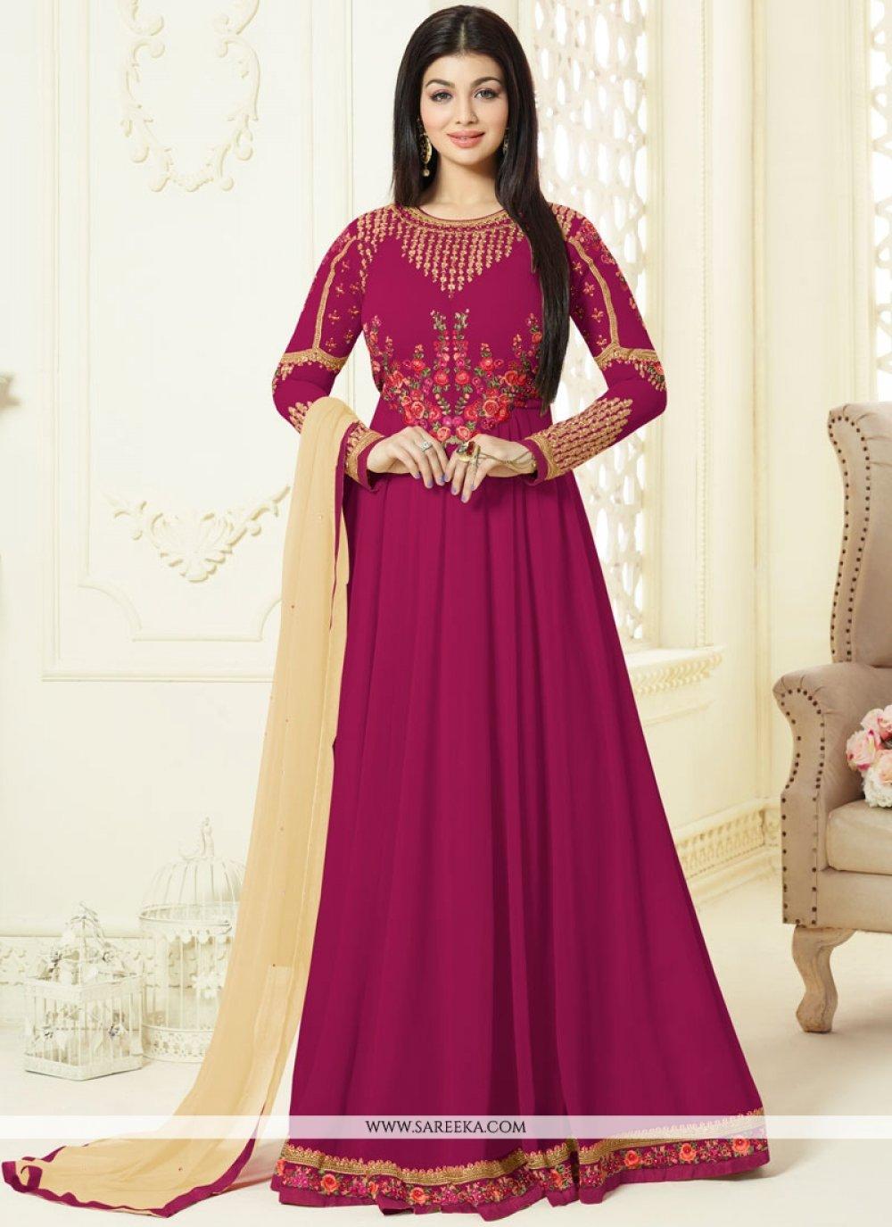 Ayesha Takia Magenta Floor Length Anarkali Suit