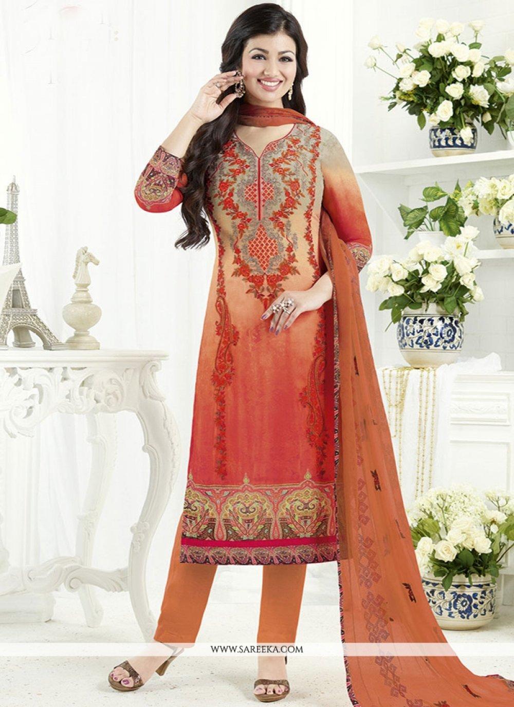 Ayesha Takia Print Work Churidar Designer Suit
