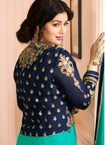 Ayesha Takia Resham Work Sea Green Jacket Style Suit