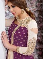 Banarasi Silk Anarkali Salwar Kameez