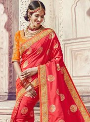Banarasi Silk Classic Saree in Red