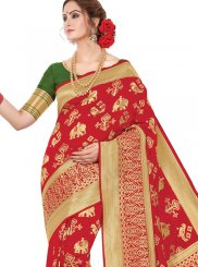 Banarasi Silk Classic Saree in Red