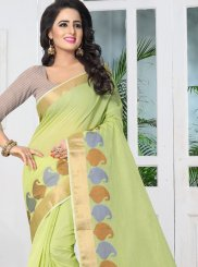 Banarasi Silk Green woven Work Traditional Designer Saree