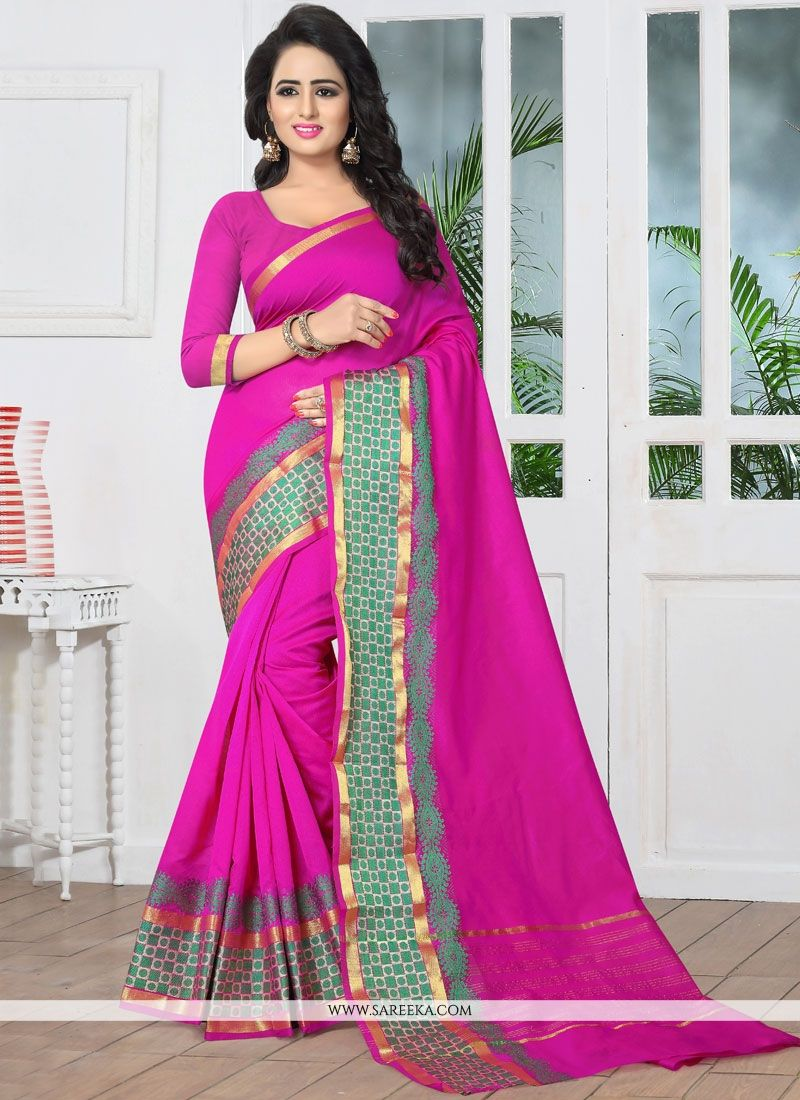 Banarasi Silk Magenta Traditional Designer Saree