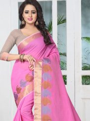 Banarasi Silk Pink Traditional  Saree
