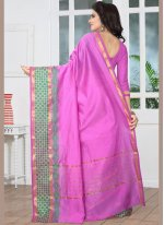 Banarasi Silk Purple woven Work Designer Traditional Saree