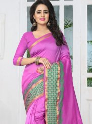 Banarasi Silk Purple woven Work Designer Traditional Saree