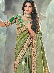 Buy Online Banarasi Silk Resham Work Designer Traditional Saree