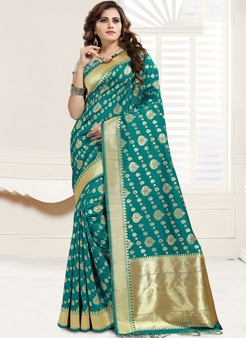 Banarasi Silk Sangeet Designer Saree