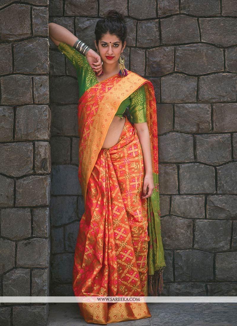 Banarasi Silk Weaving Work Classic Saree