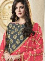 Banarasi Silk Woven Churidar Suit