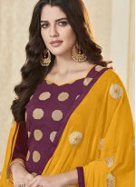 Banarasi Silk Woven Salwar Suit