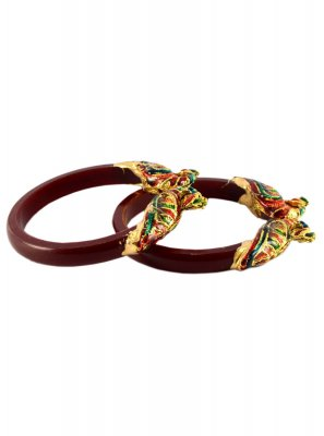 Bangles Stone Work in Maroon