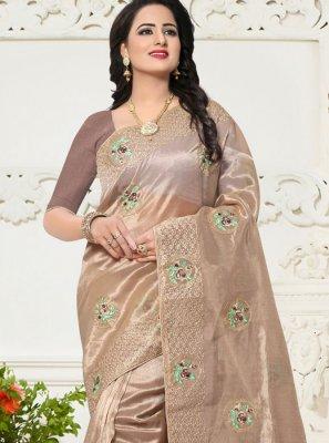 Banglori Silk Brown Saree