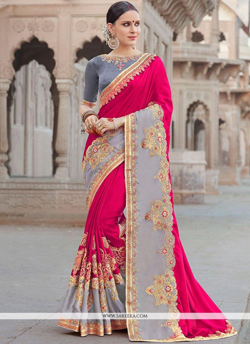 Banglori Silk Embroidered Work Designer Saree